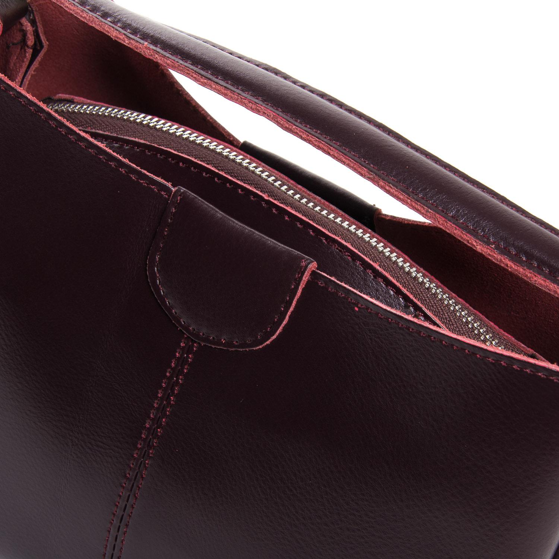 Сумка Женская Классическая кожа ALEX RAI 05-01 1383 burgundi - фото 3