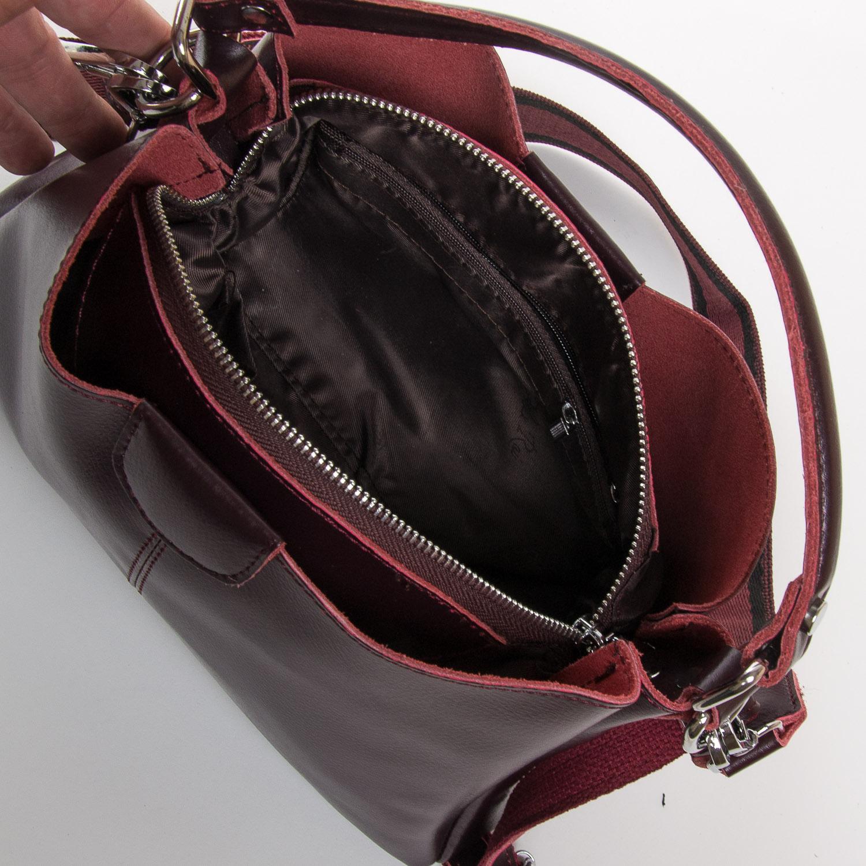 Сумка Женская Классическая кожа ALEX RAI 05-01 1383 burgundi - фото 5