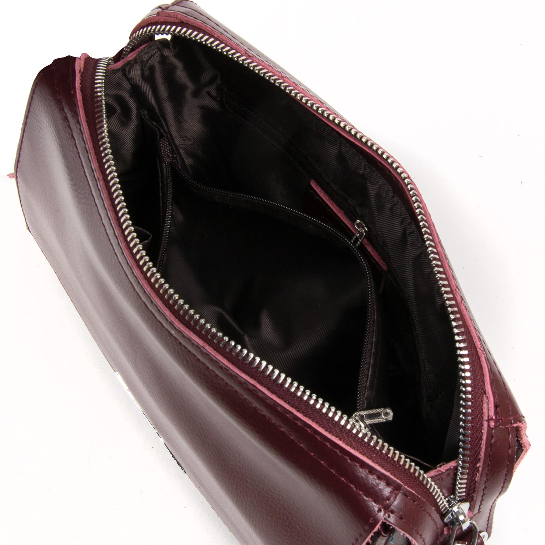 Сумка Женская Классическая кожа ALEX RAI 05-01 2227 burgundi - фото 5