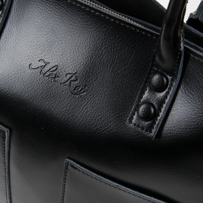 Сумка Женская Классическая кожа ALEX RAI 05-01 8776 black - фото 3