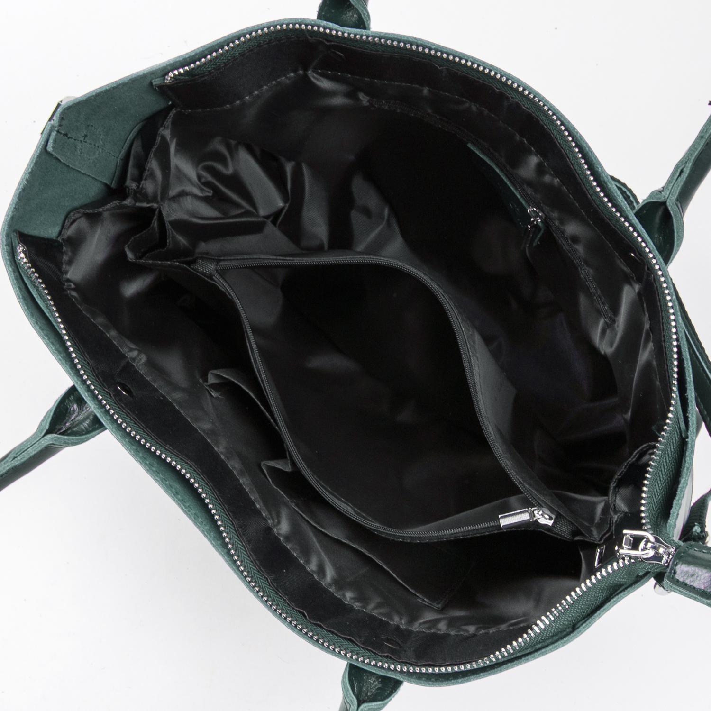Сумка Женская Классическая кожа ALEX RAI 05-01 8776 green - фото 5