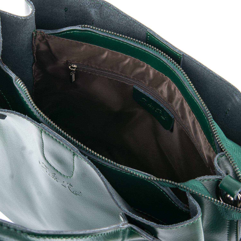Сумка Женская Классическая кожа ALEX RAI 05-01 8784 green - фото 4