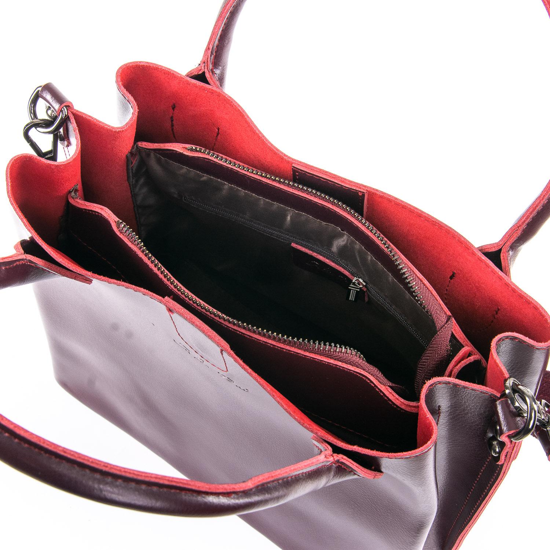 Сумка Женская Классическая кожа ALEX RAI 05-01 8784 red-wine - фото 5