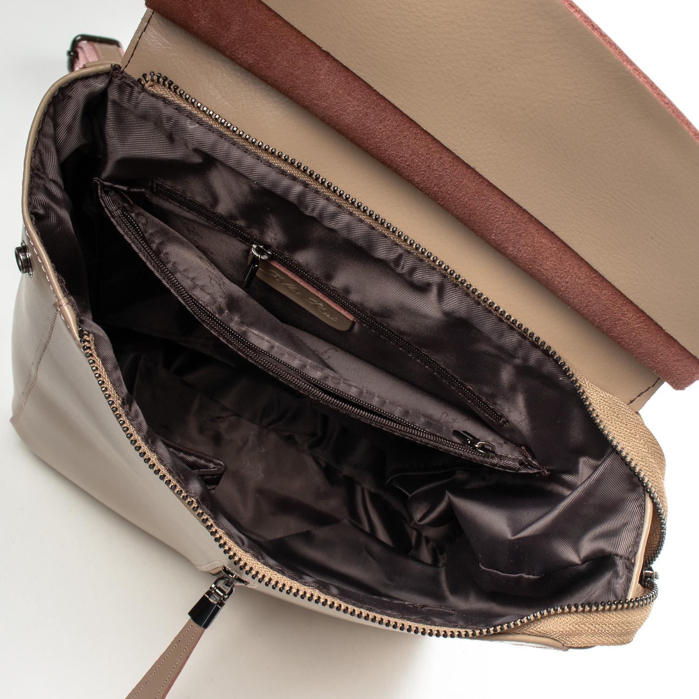 Сумка Женская Рюкзак кожа ALEX RAI 3206 khaki - фото 5