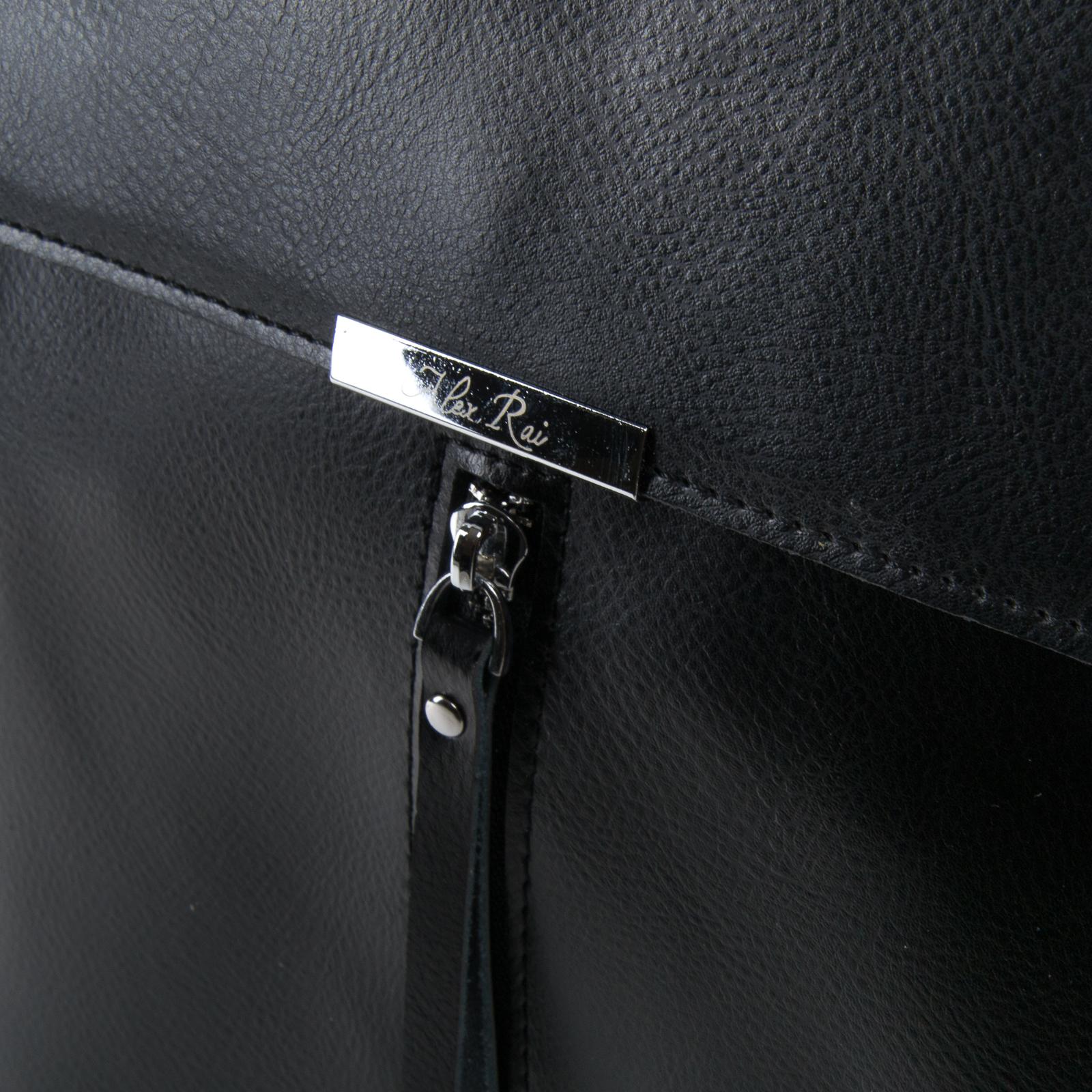 Сумка Женская Классическая кожа ALEX RAI 05-01 373 black - фото 3