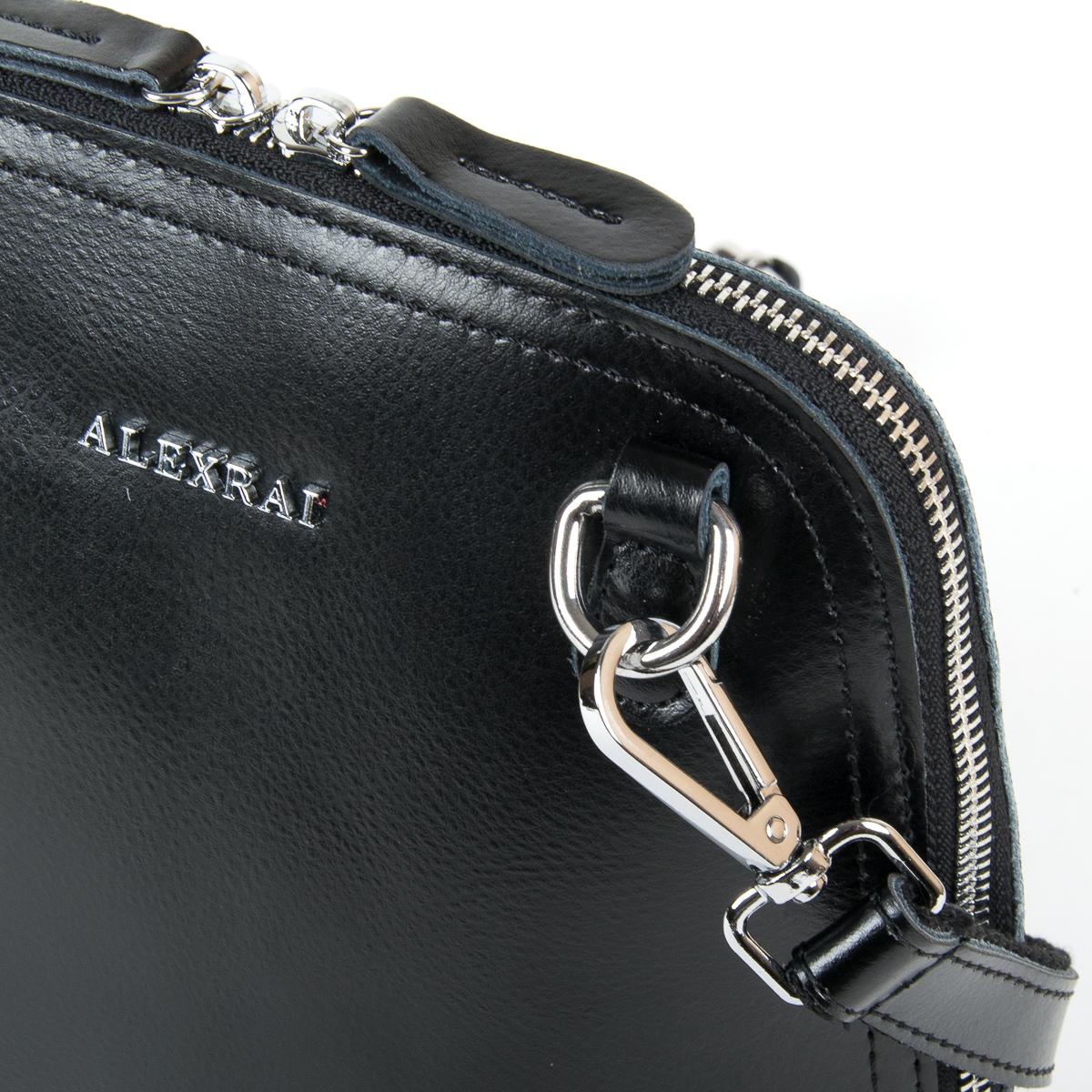 Сумка Женская Классическая кожа ALEX RAI 05-01 8803 black - фото 3