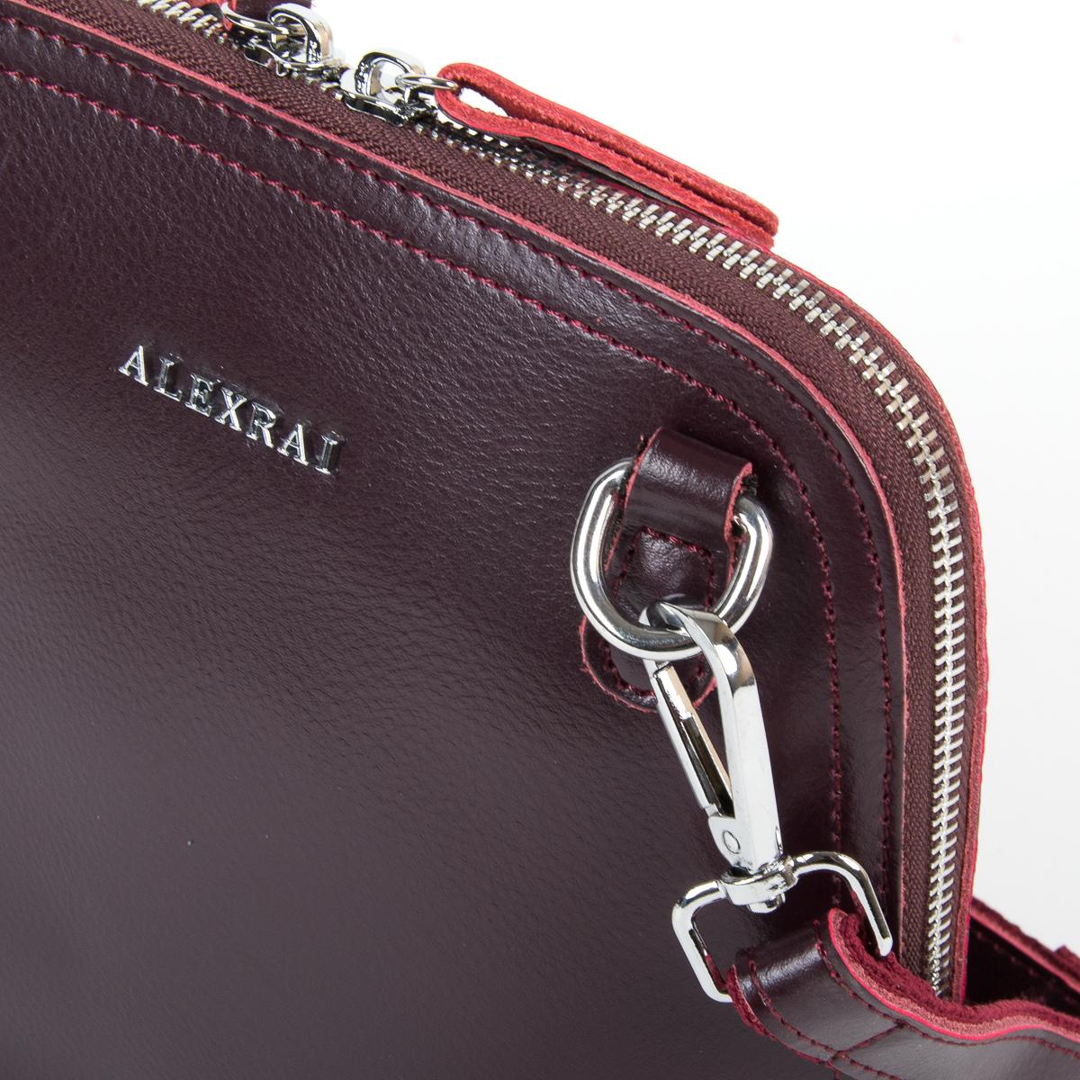 Сумка Женская Классическая кожа ALEX RAI 05-01 8803 burgundi - фото 3