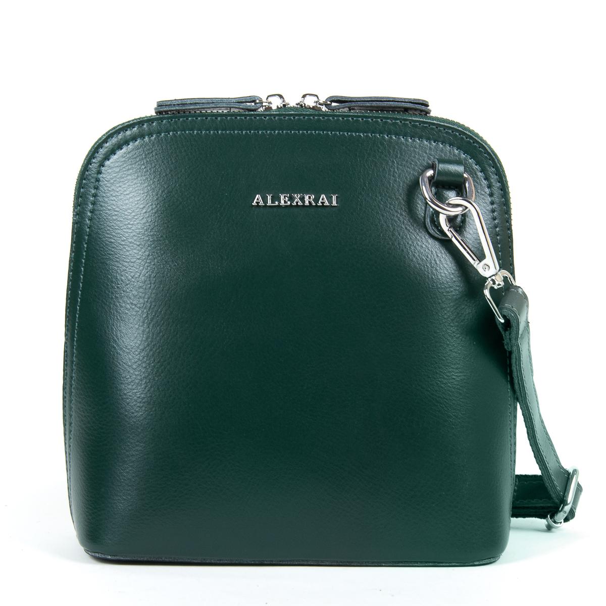 Сумка Женская Классическая кожа ALEX RAI 05-01 8803 green