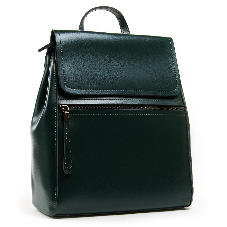 Сумка Женская Рюкзак кожа ALEX RAI 05-01 1005 green