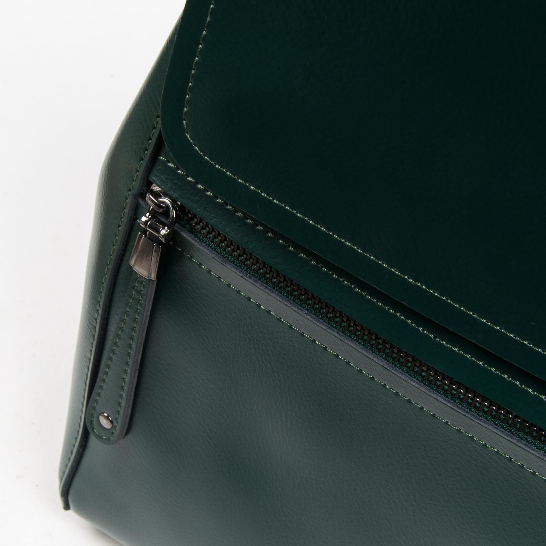 Сумка Женская Рюкзак кожа ALEX RAI 05-01 1005 green - фото 3