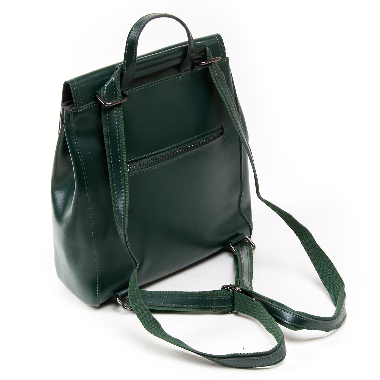 Сумка Женская Рюкзак кожа ALEX RAI 05-01 1005 green - фото 4