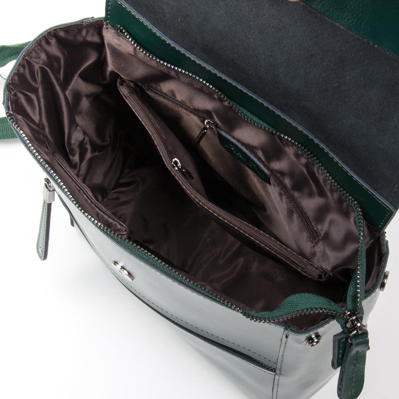 Сумка Женская Рюкзак кожа ALEX RAI 05-01 1005 green - фото 5
