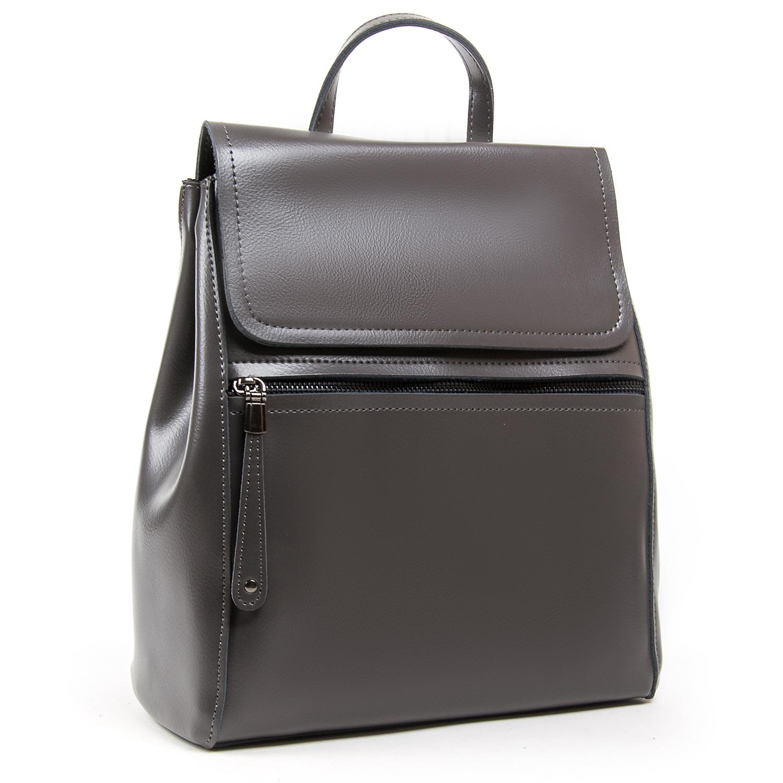 Сумка Женская Рюкзак кожа ALEX RAI 05-01 1005 grey