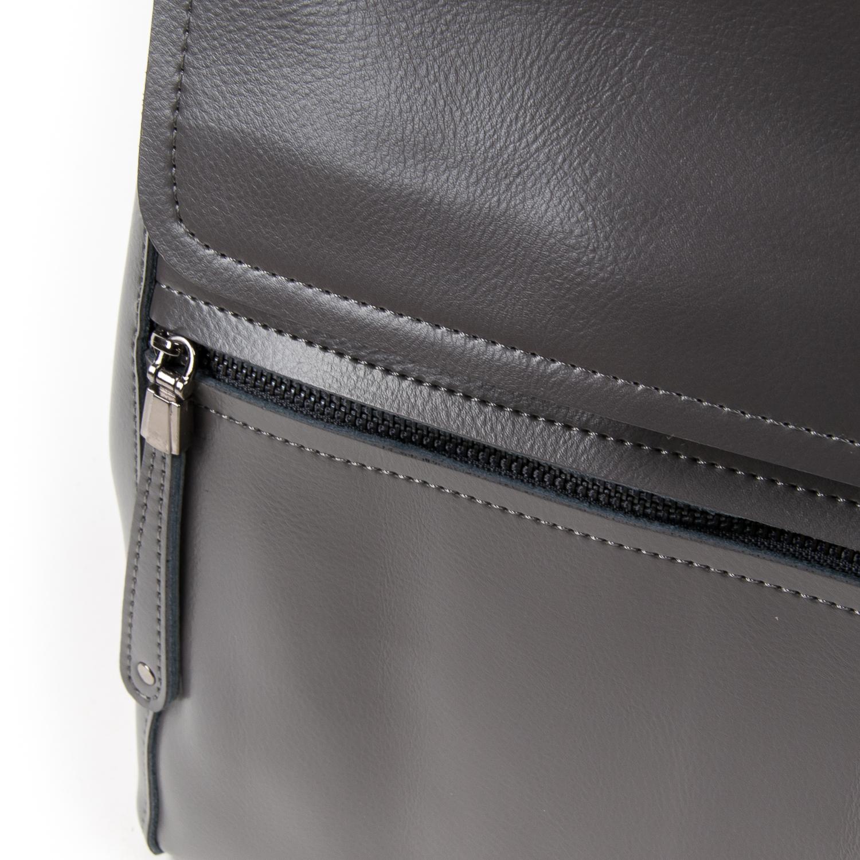 Сумка Женская Рюкзак кожа ALEX RAI 05-01 1005 grey - фото 3
