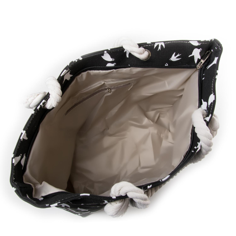 Сумка Женская Пляжная текстиль PODIUM 5011-2 black - фото 3