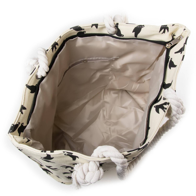 Сумка Женская Пляжная текстиль PODIUM 5011-3 white - фото 3