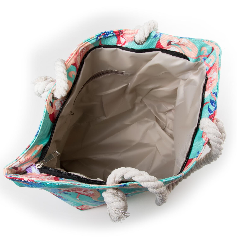 Сумка Женская Пляжная текстиль PODIUM 5012-1 blue - фото 3