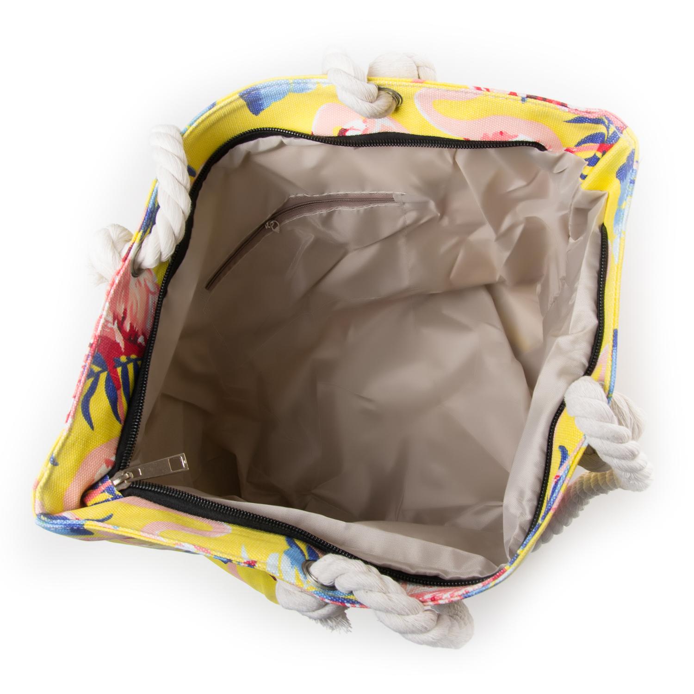 Сумка Женская Пляжная текстиль PODIUM 5012-2 yellow - фото 3