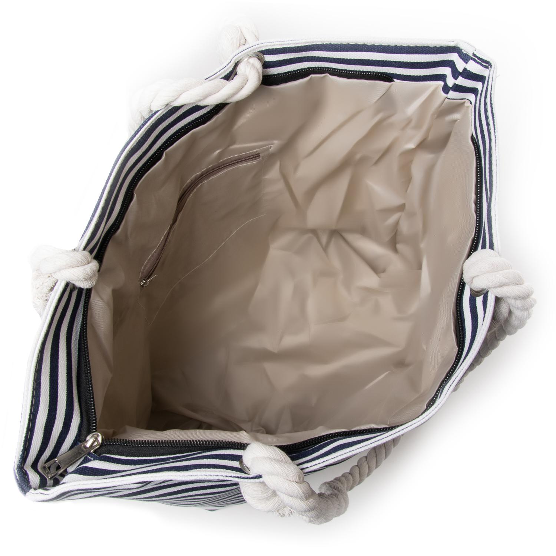 Сумка Женская Пляжная текстиль PODIUM 5013-2 blue - фото 3