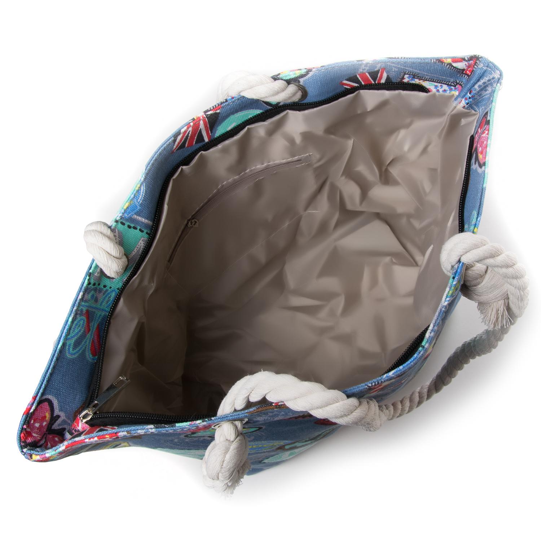 Сумка Женская Пляжная текстиль PODIUM 5014-2 blue - фото 3