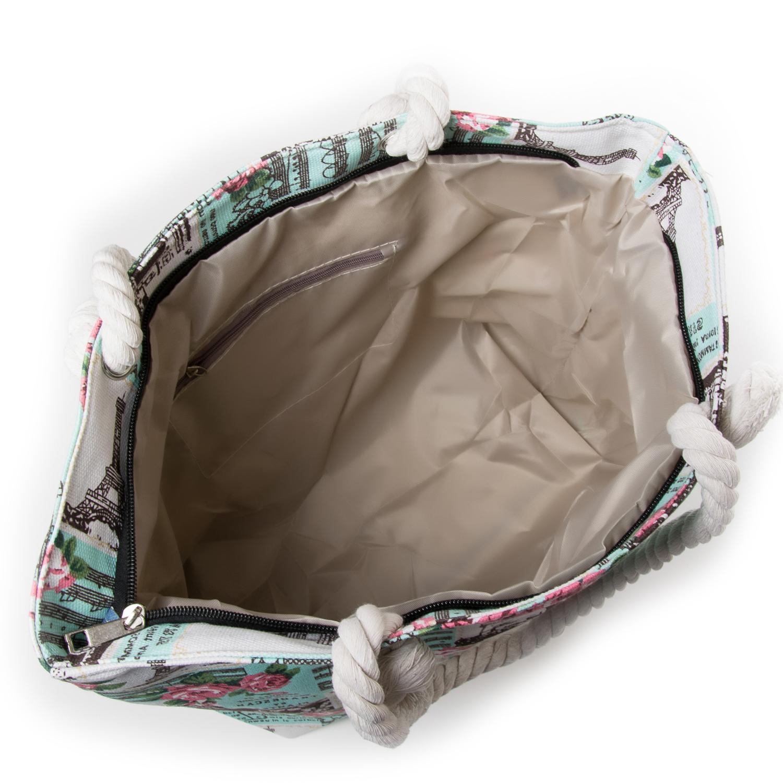 Сумка Женская Пляжная текстиль PODIUM 5015-1 green - фото 3