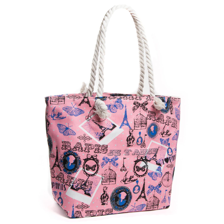 Сумка Женская Пляжная текстиль PODIUM 5015-4 pink