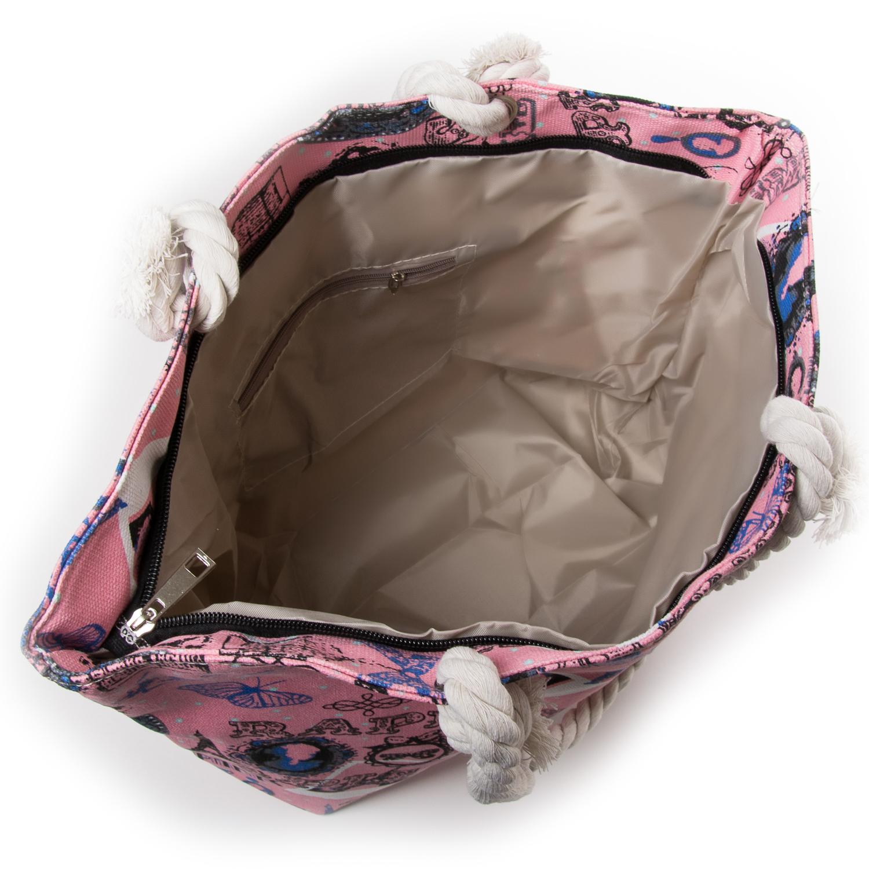 Сумка Женская Пляжная текстиль PODIUM 5015-4 pink - фото 3