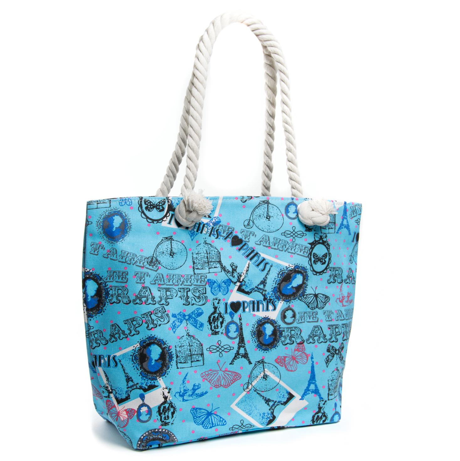 Сумка Женская Пляжная текстиль PODIUM 5015-5 blue