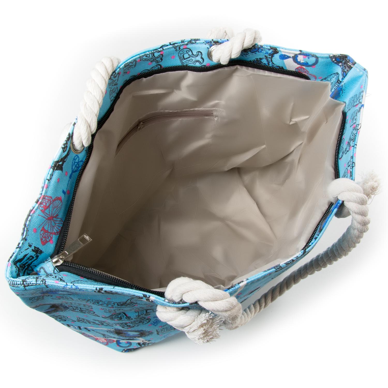 Сумка Женская Пляжная текстиль PODIUM 5015-5 blue - фото 3