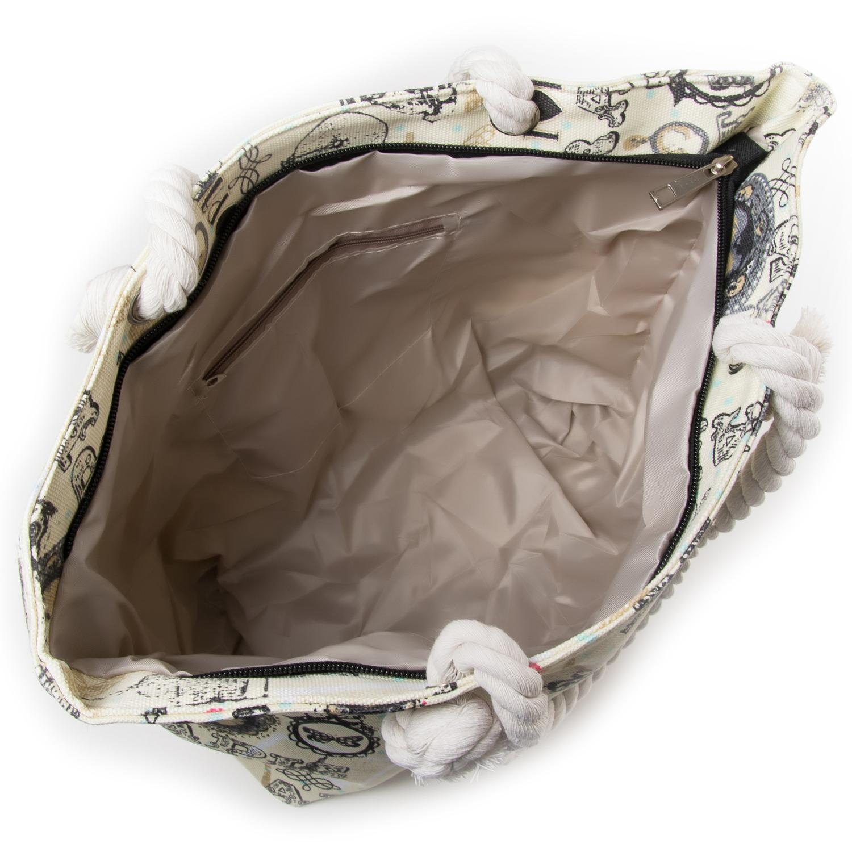 Сумка Женская Пляжная текстиль PODIUM 5015-7 beige - фото 3