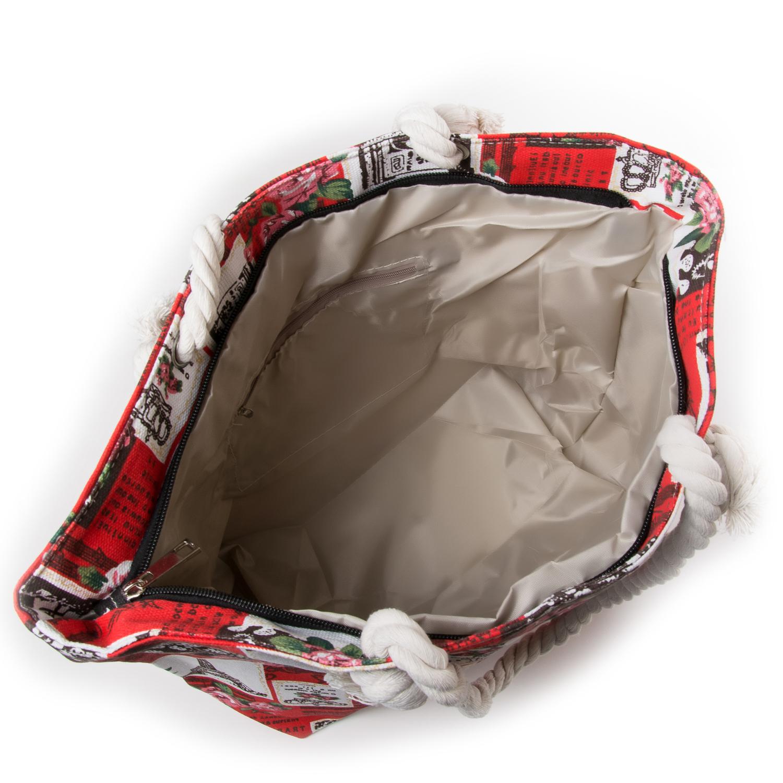 Сумка Женская Пляжная текстиль PODIUM 5015-1 red - фото 3