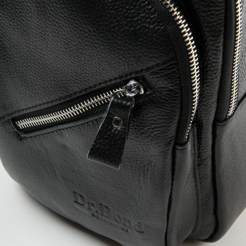 Сумка Мужская На Плечо кожа DR. BOND 6603 black - фото 3