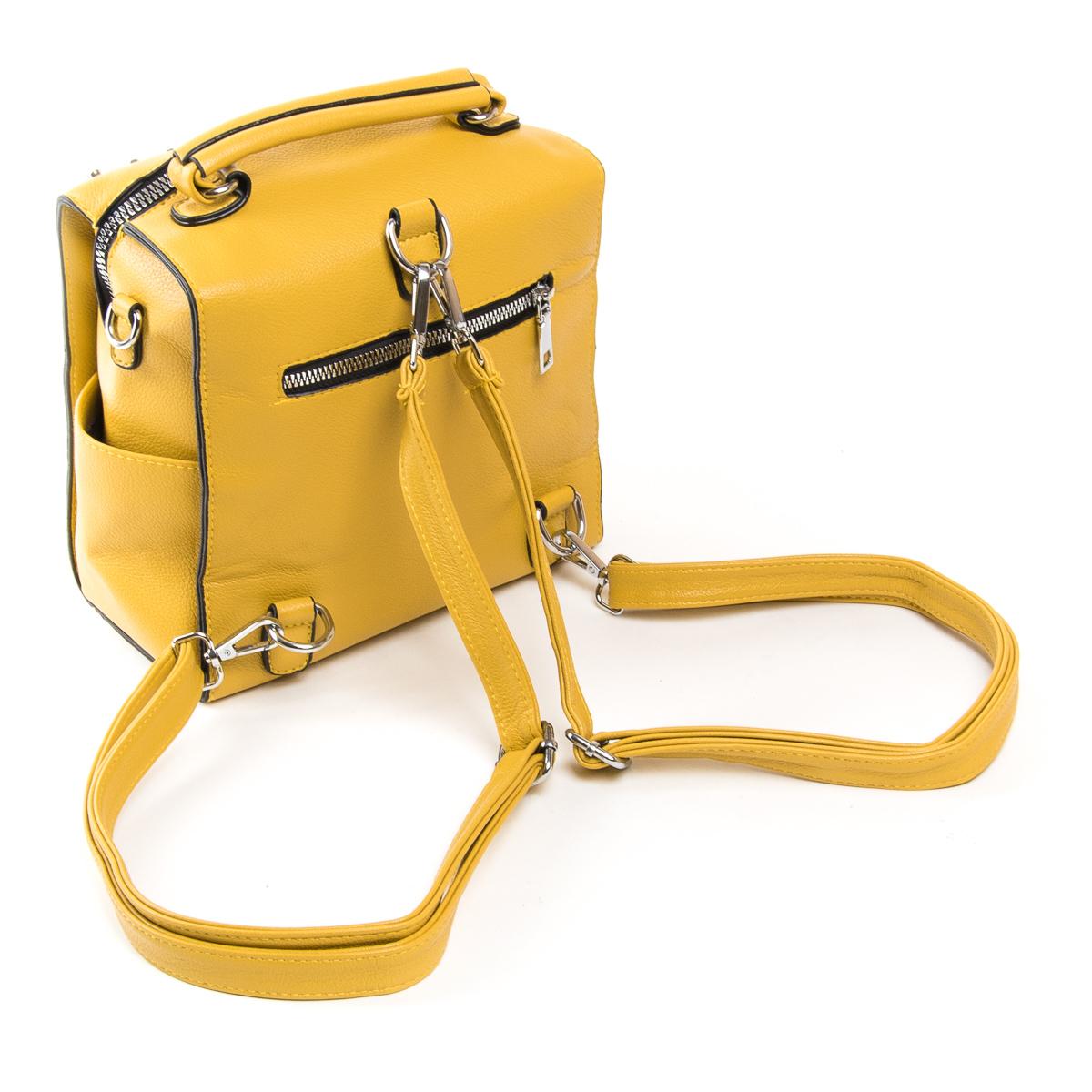 Сумка Женская Классическая иск-кожа FASHION 01-02 11054 yellow - фото 4