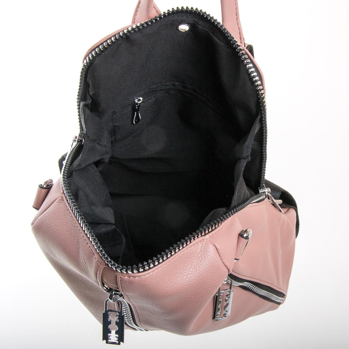 Сумка Женская Рюкзак иск-кожа FASHION 01-02 6487 pink - фото 5