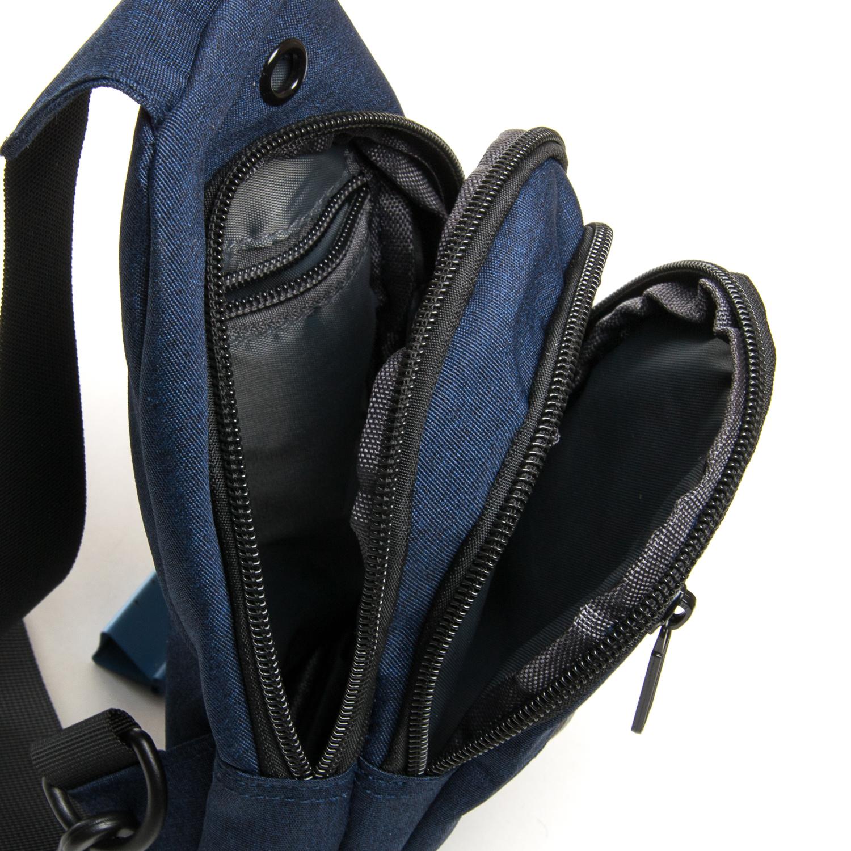 Сумка Мужская На Плечо нейлон Lanpad 8293 blue - фото 5