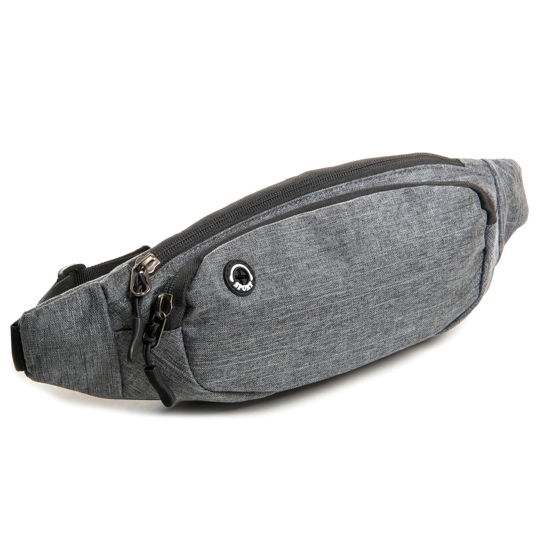 Сумка Мужская На пояс нейлон Lanpad 7661 grey