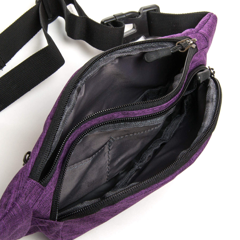 Сумка Мужская На пояс нейлон Lanpad 7661 purple - фото 4