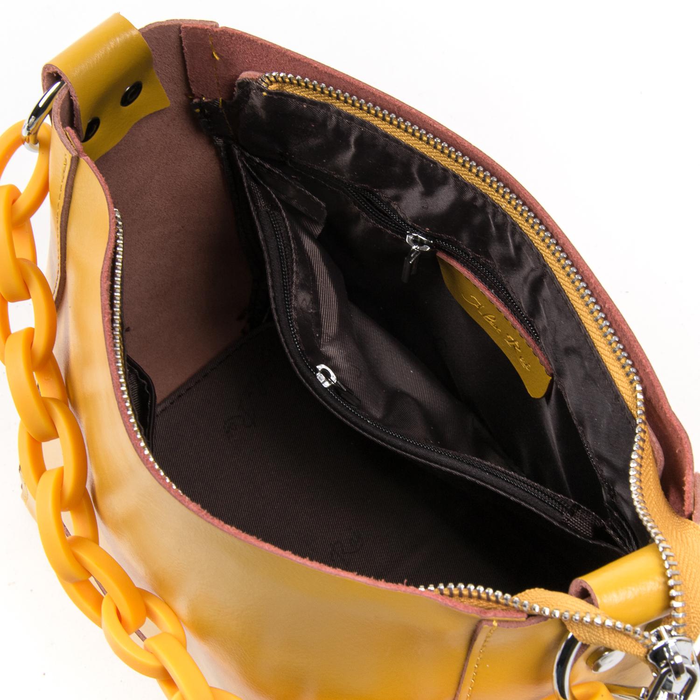 Сумка Женская Классическая кожа ALEX RAI 03-02 1897 yellow - фото 4