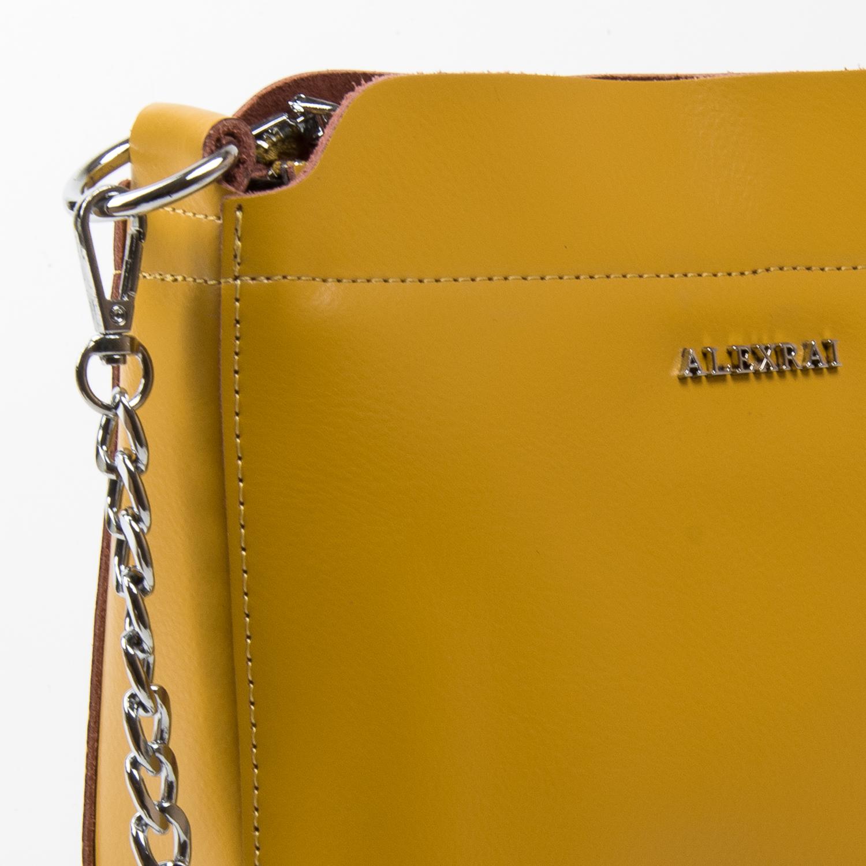 Сумка Женская Классическая кожа ALEX RAI 03-02 3101 yellow - фото 3