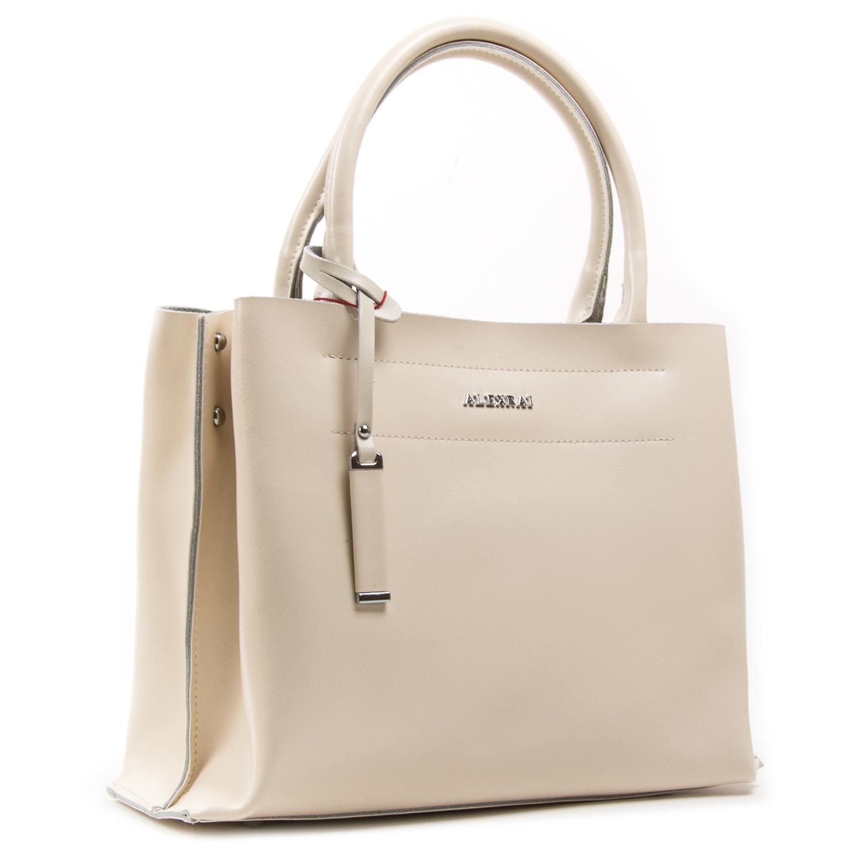 Сумка Женская Классическая кожа ALEX RAI 05-01 8550-1 light-beige