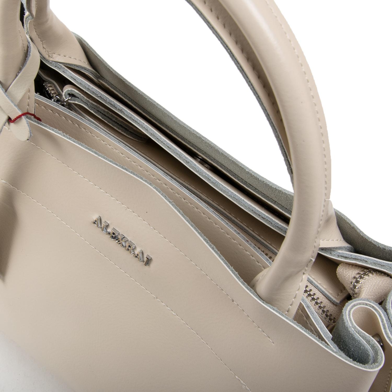 Сумка Женская Классическая кожа ALEX RAI 05-01 8550-1 light-beige - фото 3