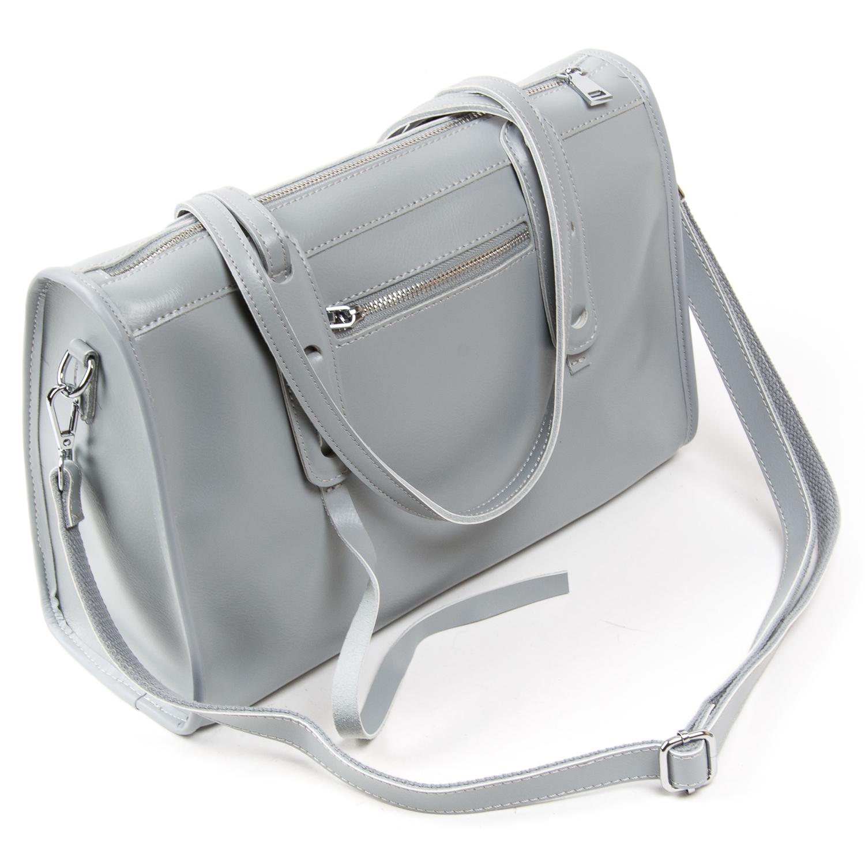 Сумка Женская Классическая кожа ALEX RAI 05-01 8797 light-grey - фото 4