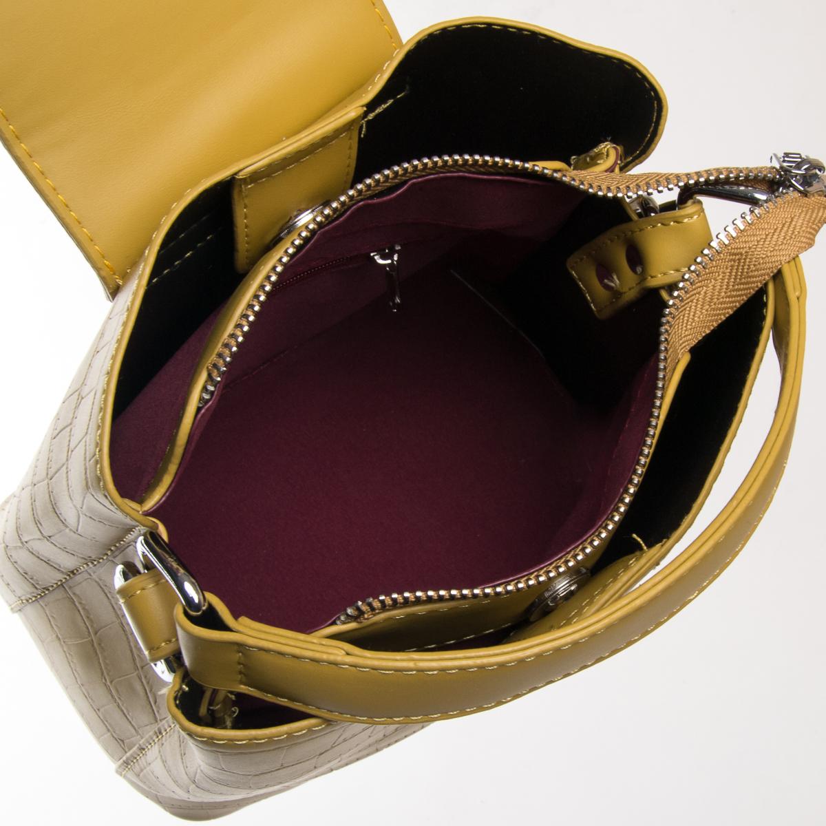 Сумка Женская Классическая иск-кожа FASHION 01-03 16905 yellow - фото 5