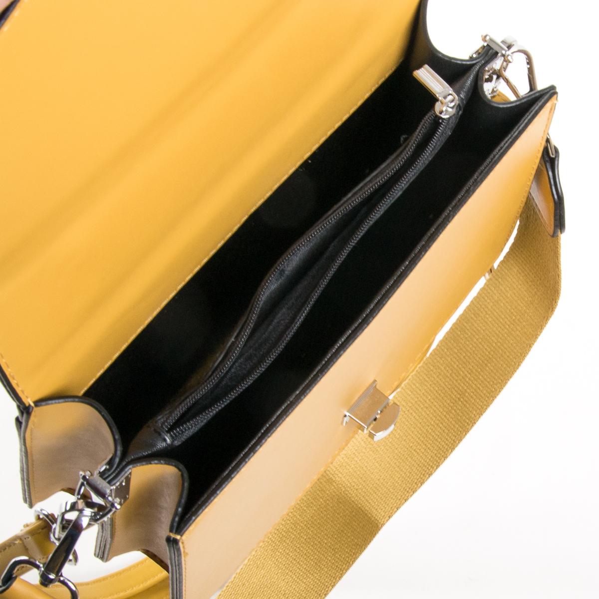 Сумка Женская Классическая иск-кожа FASHION 01-03 33002 yellow - фото 5