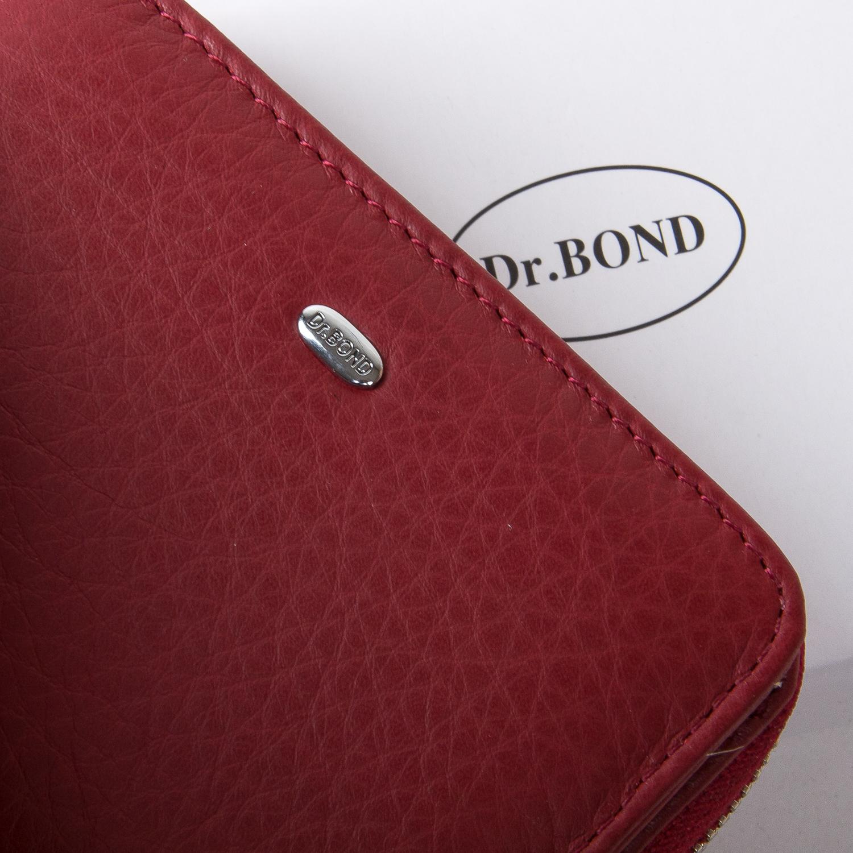 Кошелек Classic кожа DR. BOND WN-4 bordeaux-red - фото 3