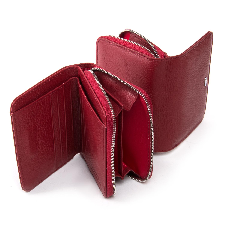 Кошелек Classic кожа DR. BOND WN-4 bordeaux-red - фото 4