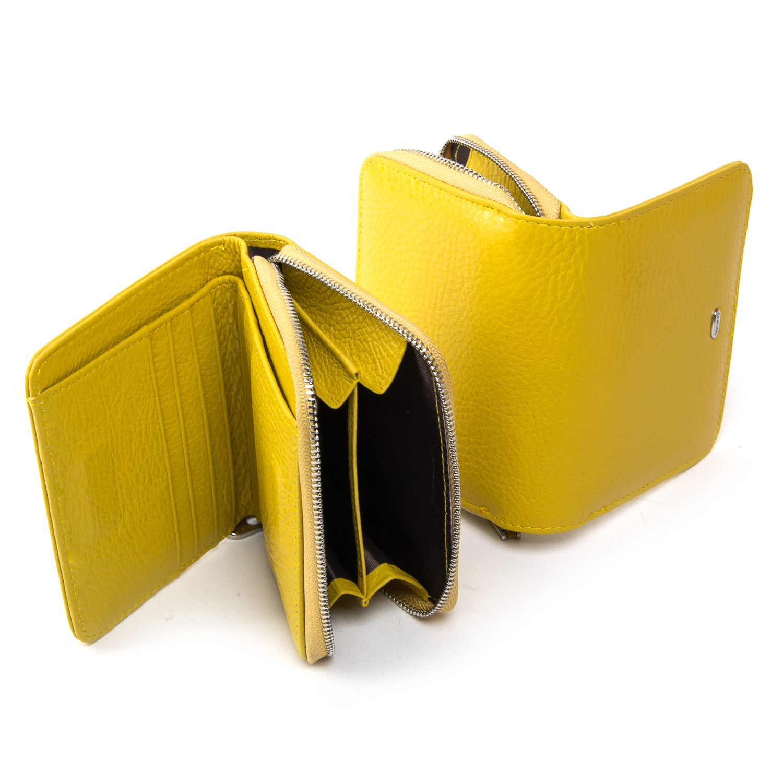 Кошелек Classic кожа DR. BOND WN-4 yellow - фото 4