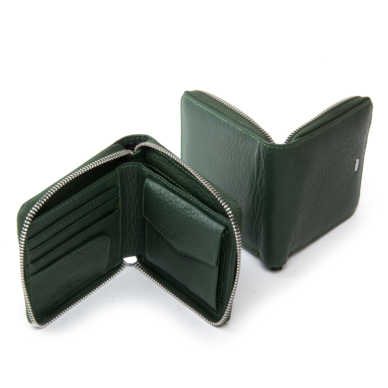 Кошелек Classic кожа DR. BOND WN-5 green - фото 4