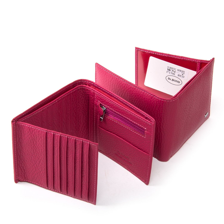 Кошелек Classic кожа DR. BOND WN-7 pink-red - фото 4