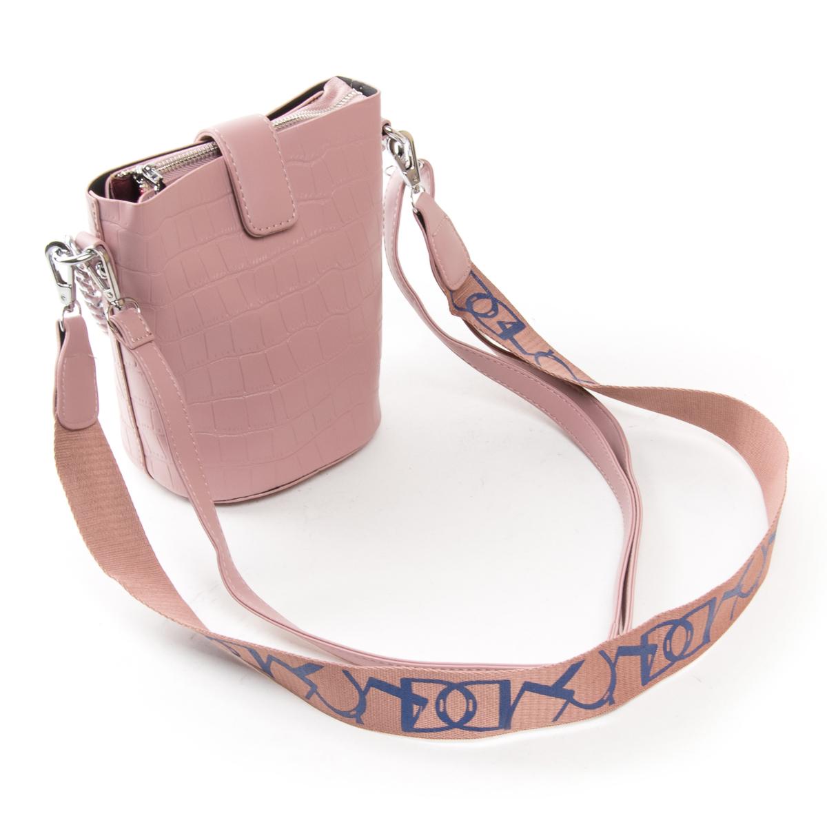 Сумка Женская Классическая иск-кожа FASHION 01-04 16909 pink - фото 4